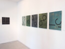 exhibition view ´von gebliebenen und heimkehrern`5 paintings ´Bilder der fließenden Welt`, left Ingrid Hornef; Claudia Larissa Artz coyright