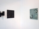 exhibition view ´von gebliebenen und heimkehrern` paintings ´Bilder der fließenden Welt`, left Ingrid Hornef; Claudia Larissa Artz coyright