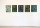 exhibition view ´von gebliebenen und heimkehrern` 5 paintings ´Bilder der fließenden Welt`, Claudia Larissa Artz coyright