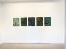 exhibition view ´von gebliebenen und heimkehrern`, 5 paintings ´Bilder der fließenden Welt`, Claudia Larissa Artz coyright